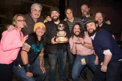 ZBB and Southern Ground Artists Radio Promotions team celebrate the GRAMMY win with an awesome Uncaged cake!